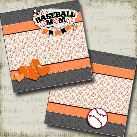 Baseball Mom Orange NPM - 3243