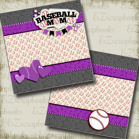 Baseball Mom Purple NPM - 3245