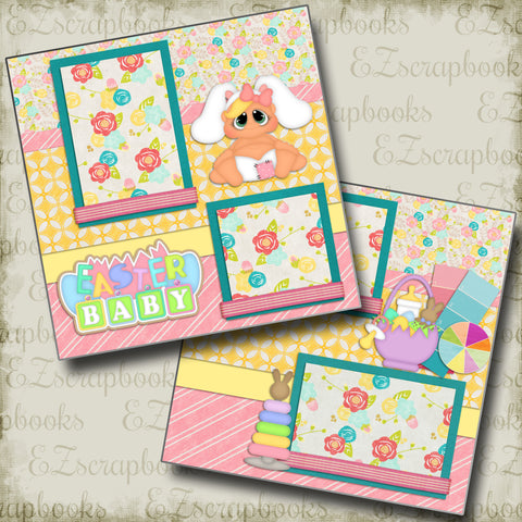 Easter Baby - 999 - EZscrapbooks Scrapbook Layouts Baby - Toddler, Spring - Easter
