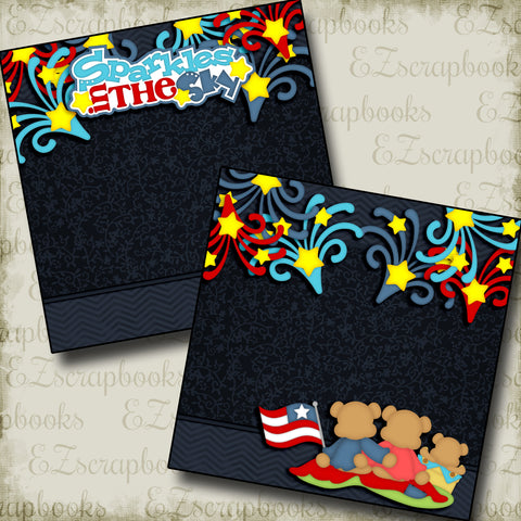 Sparkles in the Sky NPM - 2820 - EZscrapbooks Scrapbook Layouts July 4th - Patriotic