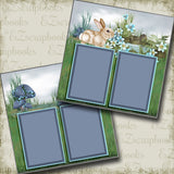 Easter Meadow - 2855 - EZscrapbooks Scrapbook Layouts Spring - Easter