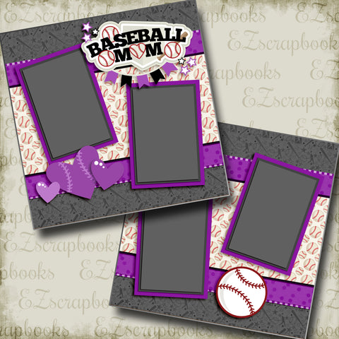 Baseball Mom Purple - 3244
