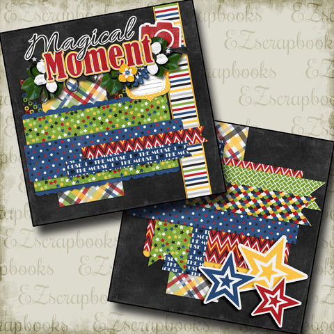 Magical Moments Stars NPM - 3195 - EZscrapbooks Scrapbook Layouts Disney