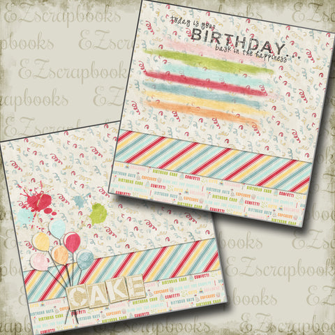 Birthday NPM - 2640 - EZscrapbooks Scrapbook Layouts Birthday