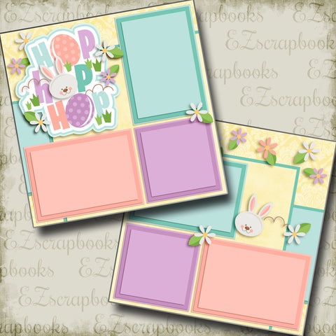 Hop Hop Hop - 2971 - EZscrapbooks Scrapbook Layouts Spring - Easter