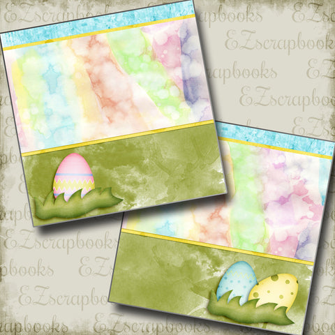 Easter Eggs NPM - 2848 - EZscrapbooks Scrapbook Layouts Spring - Easter