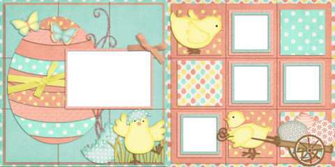 Easter Chicks - 430 - EZscrapbooks Scrapbook Layouts seasons, Spring - Easter