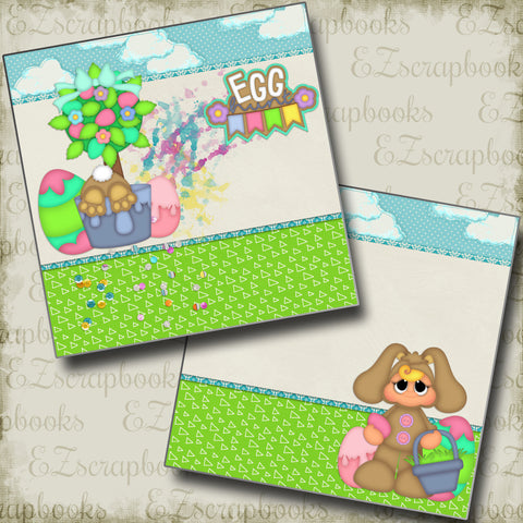 Egg Hunt NPM - 2452 - EZscrapbooks Scrapbook Layouts Spring - Easter