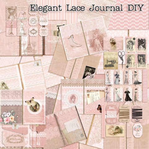 Shabby Elegant Lace Journal - 7209