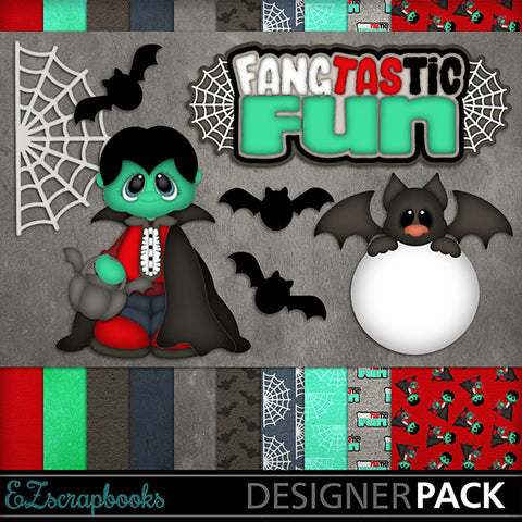Fangtastic Fun - Halloween - Digital Kit - INSTANT DOWNLOAD