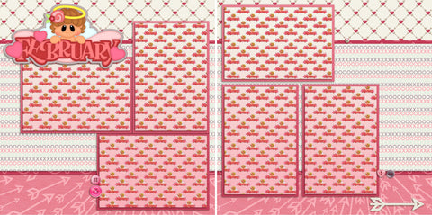 February TBD - 968 - EZscrapbooks Scrapbook Layouts Love - Valentine, Months of the Year, Winter