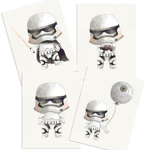 Little Troopers Wall Art Prints - 4 Prints - 8063