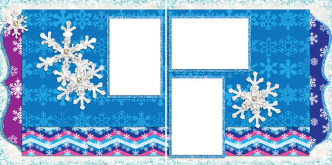 Frozen Inspired - 2003 - EZscrapbooks Scrapbook Layouts Disney, Winter