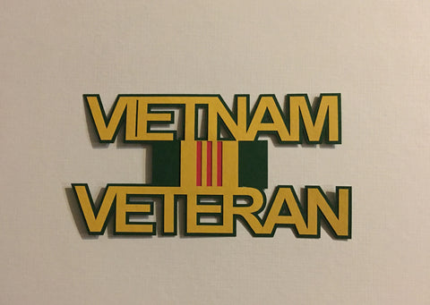 Vietnam Veteran Title - 11496 - Laser Die Cut - EZscrapbooks Scrapbook Layouts Military