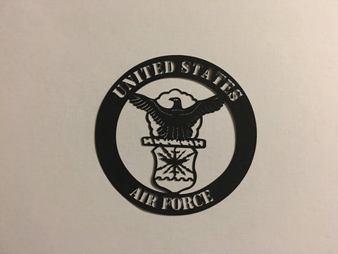 US Air Force Black - 1025 - Laser Die Cut - EZscrapbooks Scrapbook Layouts Military