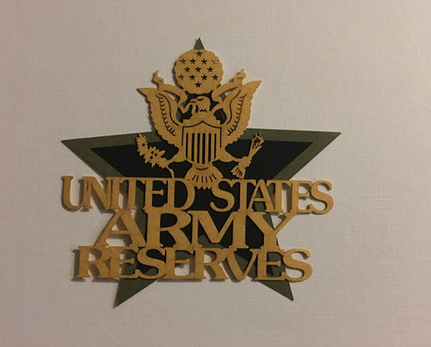 US Army Reserves Gold - 11927 - Laser Die Cut - EZscrapbooks Scrapbook Layouts Military