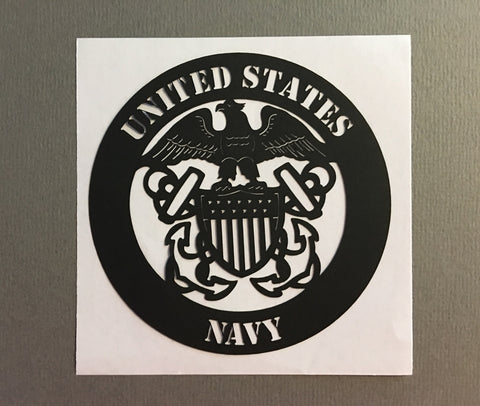 US Navy Black - 1033 - Laser Die Cut