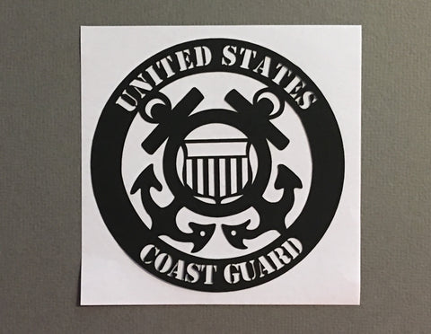 US Coast Guard - 1027 - Laser Die Cut - EZscrapbooks Scrapbook Layouts Military