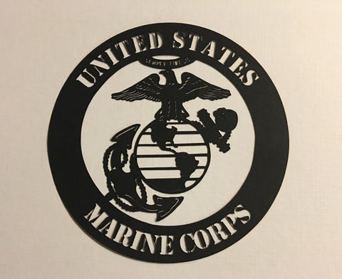 US Marine Corps Black - 1026 - Laser Die Cut - EZscrapbooks Scrapbook Layouts Military