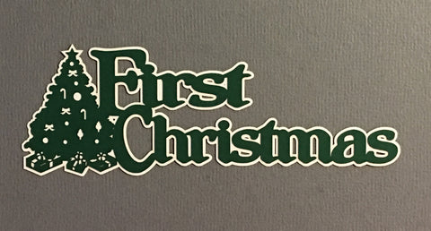 First Christmas - D10257 - Laser Die Cut - EZscrapbooks Scrapbook Layouts Christmas