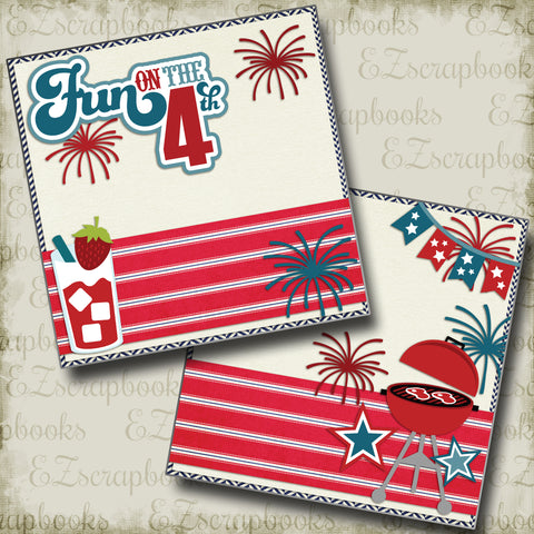 Fun on the 4th NPM - 2305 - EZscrapbooks Scrapbook Layouts July 4th - Patriotic