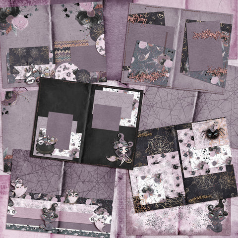 Gothic Dolls Halloween Journal - INSTANT DOWNLOAD - EZscrapbooks Scrapbook Layouts Digital Journals