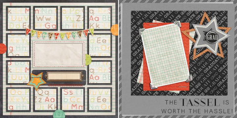 Graduate - 849 - EZscrapbooks Scrapbook Layouts School