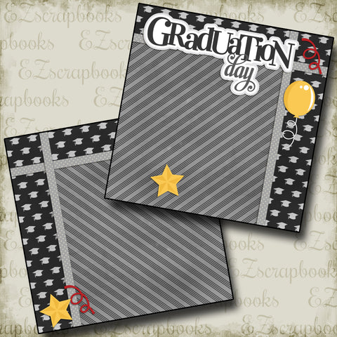 Graduation Day NPM - 2307 - EZscrapbooks Scrapbook Layouts Graduation, School