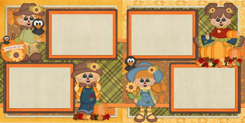 Happy Fall Girls - 427 - EZscrapbooks Scrapbook Layouts Fall - Autumn, Girls