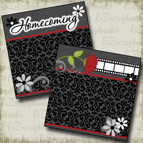 Homecoming NPM - 2405 - EZscrapbooks Scrapbook Layouts High School, School