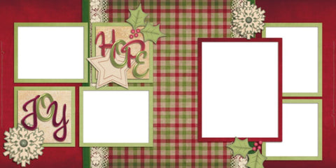 Hope and Joy - Digital Scrapbook Pages - INSTANT DOWNLOAD
