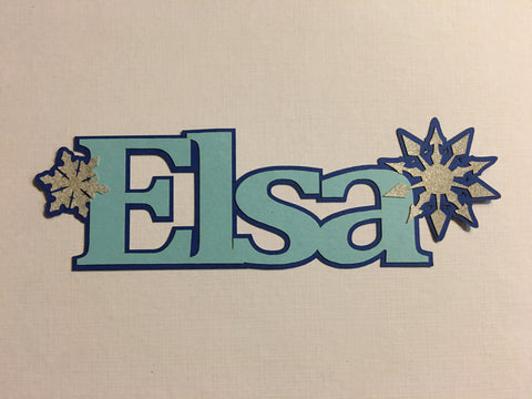 Elsa - D11691 - Laser Die Cut - EZscrapbooks Scrapbook Layouts Disney