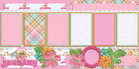 January - 356 - EZscrapbooks Scrapbook Layouts Months of the Year, seasons