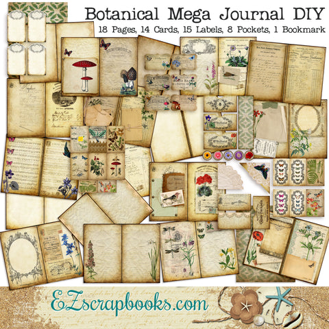 Mega Botanical Junk Journal DIY - 7089