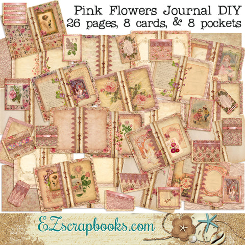 Pink Flowers Journal Kit - 7099