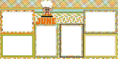 June - Digital Scrapbook Pages - INSTANT DOWNLOAD