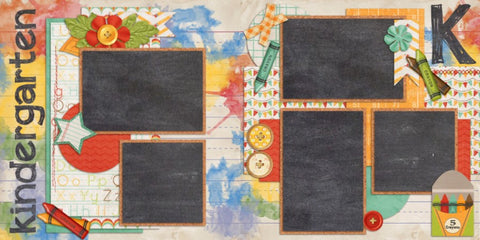 Kindergarten - 836 - EZscrapbooks Scrapbook Layouts School