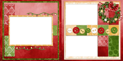 Let it be Christmas - Digital Scrapbook Pages - INSTANT DOWNLOAD