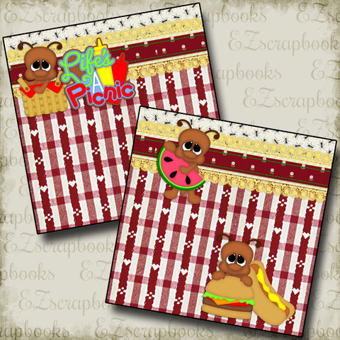 Life's a Picnic NPM - 2282 - EZscrapbooks Scrapbook Layouts Summer