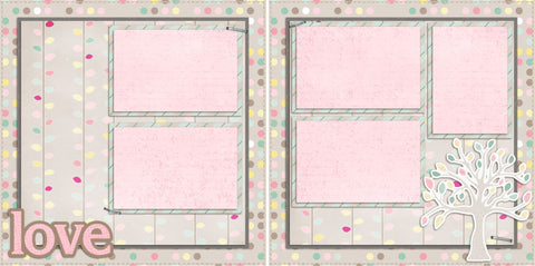 Love - 2049 - EZscrapbooks Scrapbook Layouts Family