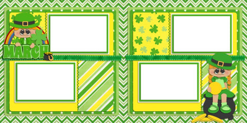 March - Digital Scrapbook Pages - INSTANT DOWNLOAD - EZscrapbooks Scrapbook Layouts Months of the Year