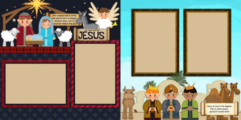 Nativity - 436 - EZscrapbooks Scrapbook Layouts Christmas, Faith - Religious