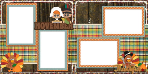 November - Digital Scrapbook Pages - INSTANT DOWNLOAD