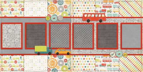 On the Go - 276 - EZscrapbooks Scrapbook Layouts Baby - Toddler, Boys