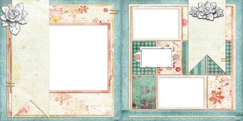 Ooh La La - Digital Scrapbook Pages - INSTANT DOWNLOAD