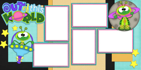 Out of this World - Digital Scrapbook Pages - INSTANT DOWNLOAD