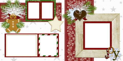 Christmas - Digital Scrapbook Pages - INSTANT DOWNLOAD - EZscrapbooks Scrapbook Layouts