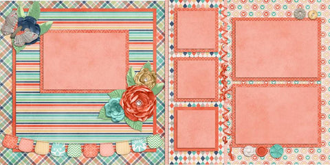 Perfectly Peachy - 274 - EZscrapbooks Scrapbook Layouts Baby - Toddler, Girls, Other