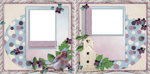 Lavender Spring - Digital Scrapbook Pages - INSTANT DOWNLOAD