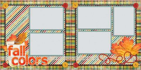 Fall Colors - 570 - EZscrapbooks Scrapbook Layouts Fall - Autumn, seasons